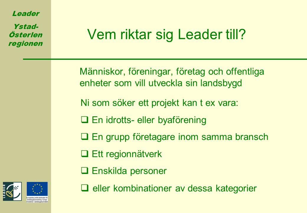 Vem riktar sig Leader till