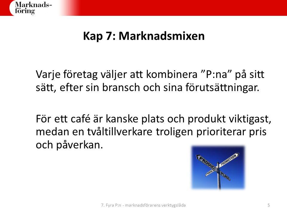 7. Fyra P:n - marknadsförarens verktygslåda