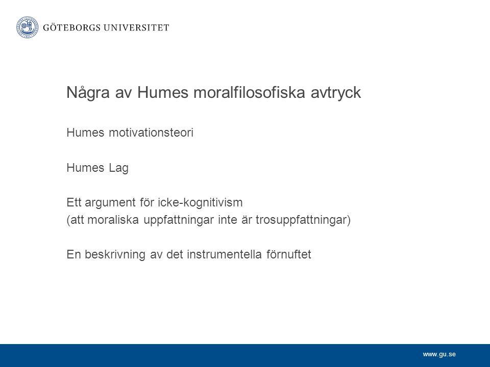 Några av Humes moralfilosofiska avtryck