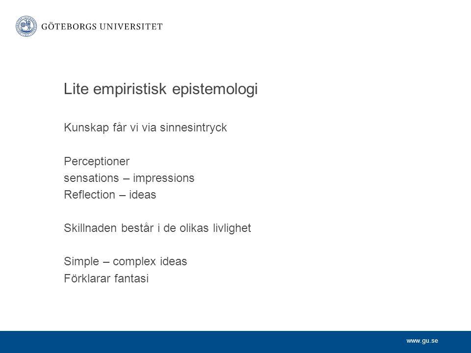 Lite empiristisk epistemologi