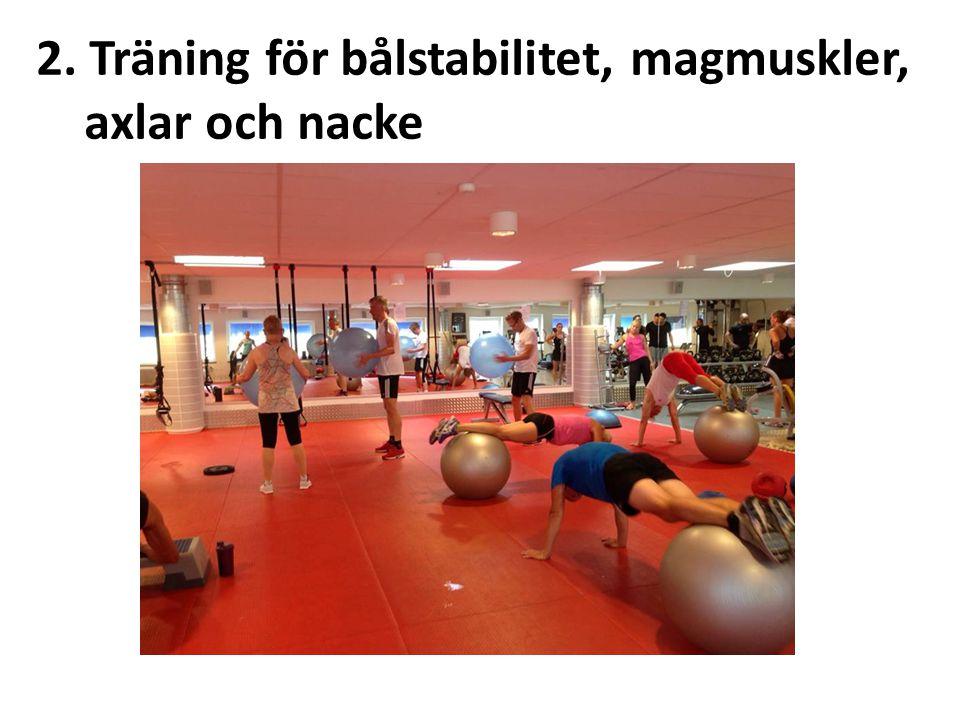 2. Träning för bålstabilitet, magmuskler,