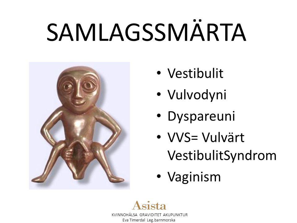 SAMLAGSSMÄRTA Vestibulit Vulvodyni Dyspareuni