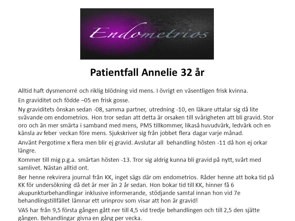 Patientfall Annelie 32 år