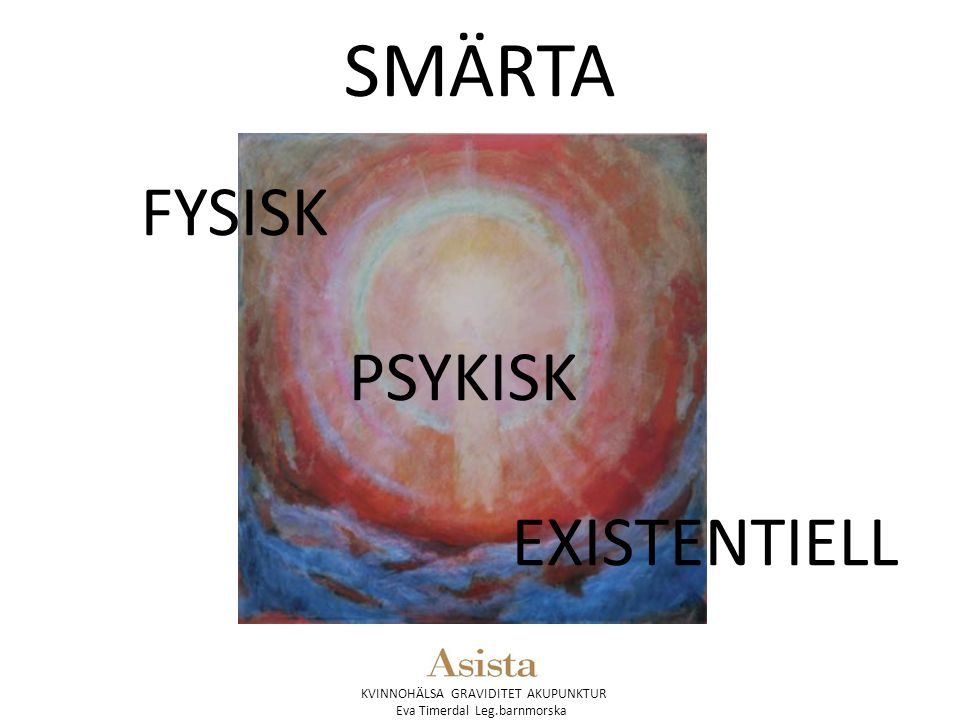 SMÄRTA FYSISK PSYKISK EXISTENTIELL