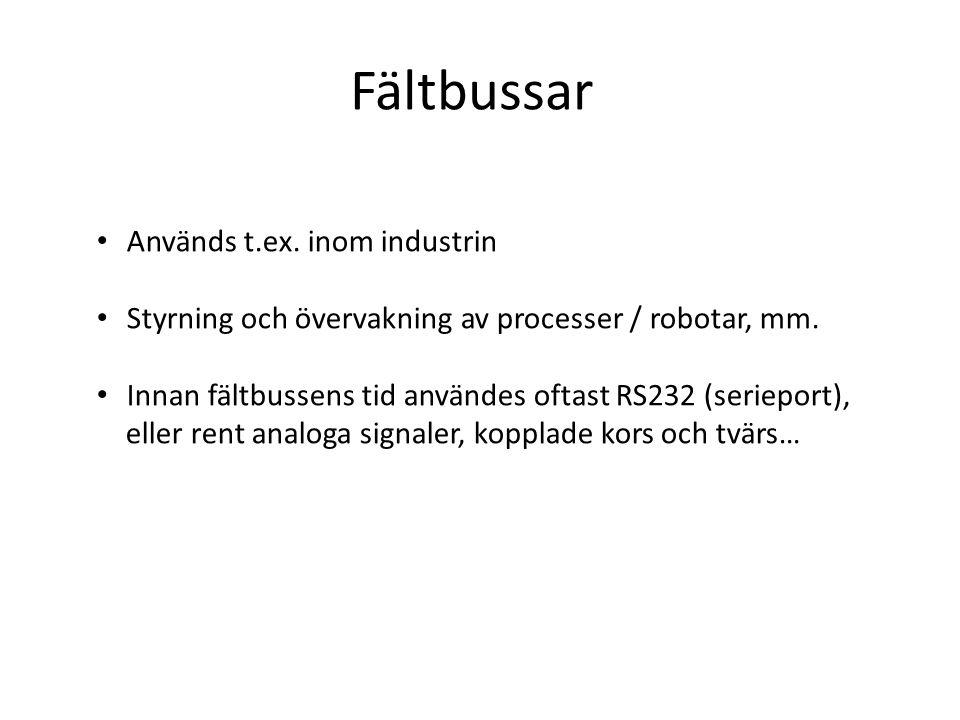 Fältbussar Används t.ex. inom industrin