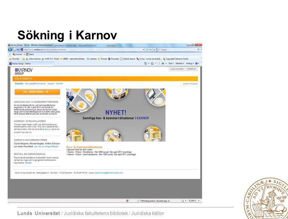 Sökning i Karnov