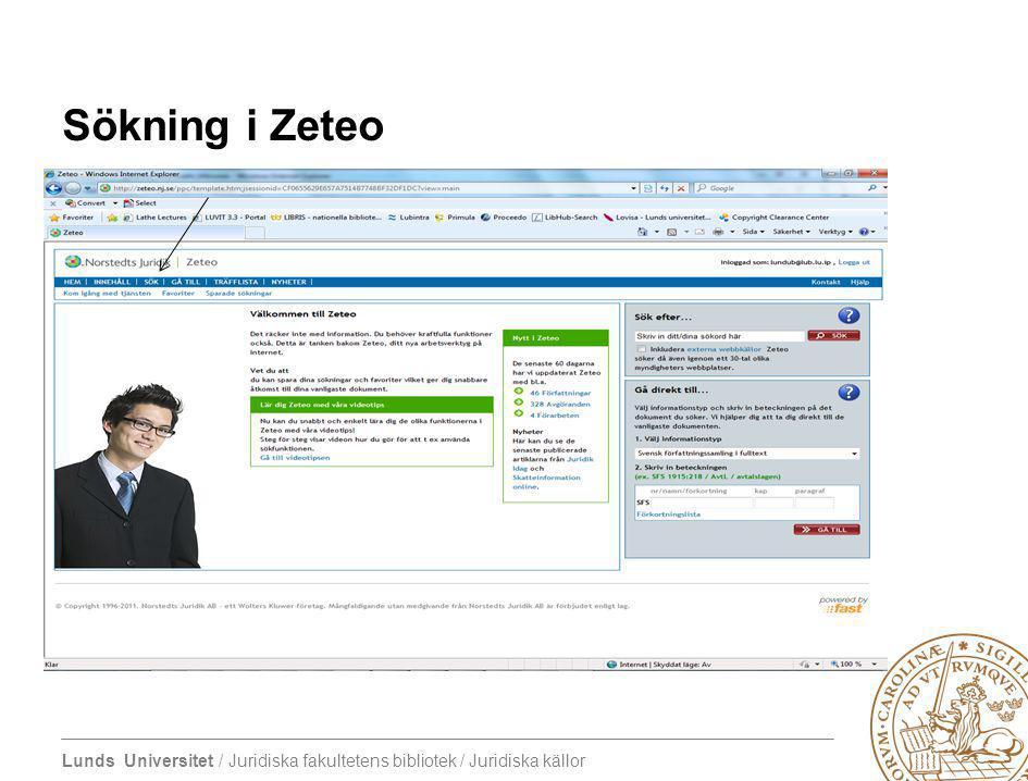 Sökning i Zeteo 4/7/2017 Zeteo – Norstedts Olika sökingångar Sök