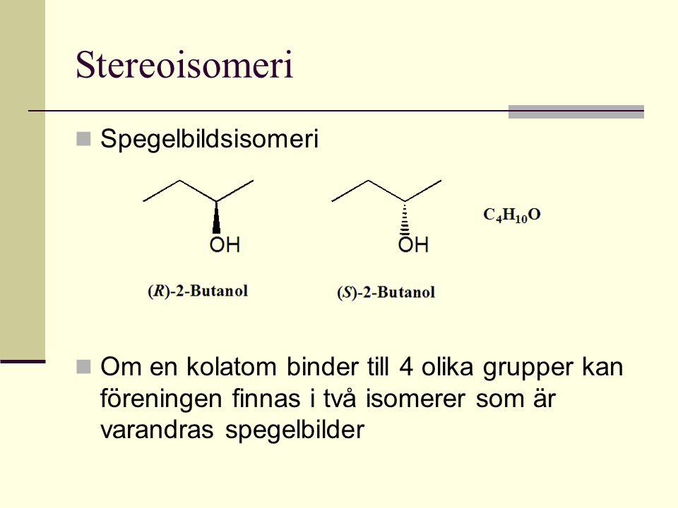 Stereoisomeri Spegelbildsisomeri