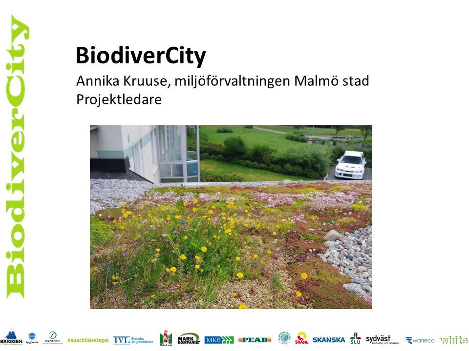 BiodiverCity Annika Kruuse, miljöförvaltningen Malmö stad