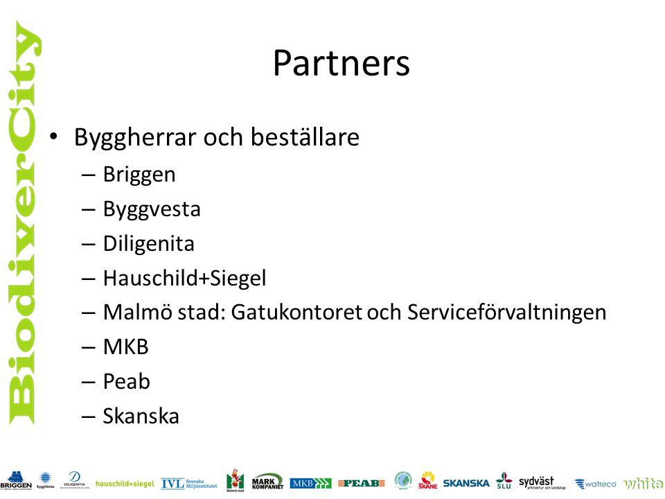 Partners Byggherrar och beställare Briggen Byggvesta Diligenita