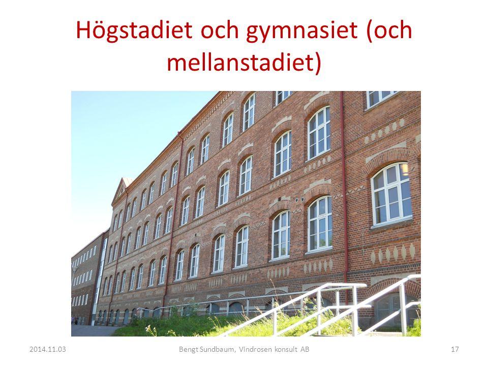 Högstadiet och gymnasiet (och mellanstadiet)