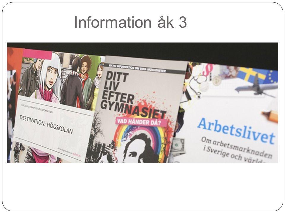 Information åk 3