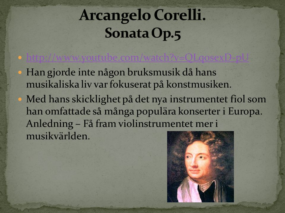 Arcangelo Corelli. Sonata Op.5