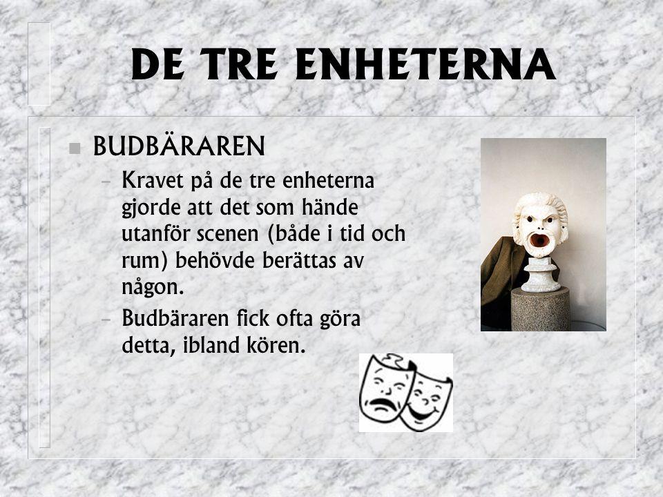 DE TRE ENHETERNA BUDBÄRAREN