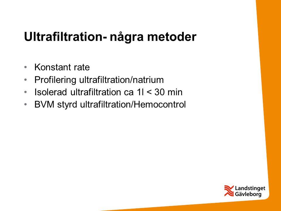 Ultrafiltration- några metoder