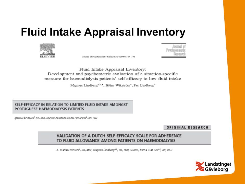 Fluid Intake Appraisal Inventory