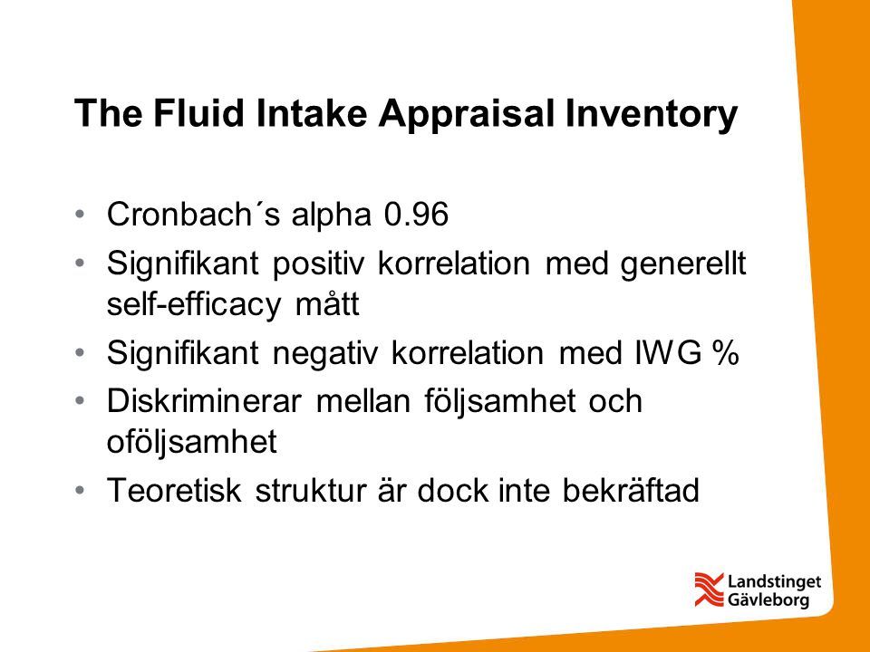 The Fluid Intake Appraisal Inventory