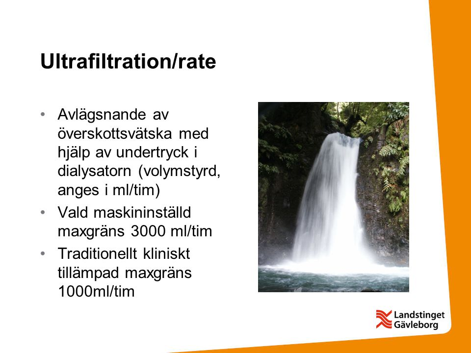 Ultrafiltration/rate