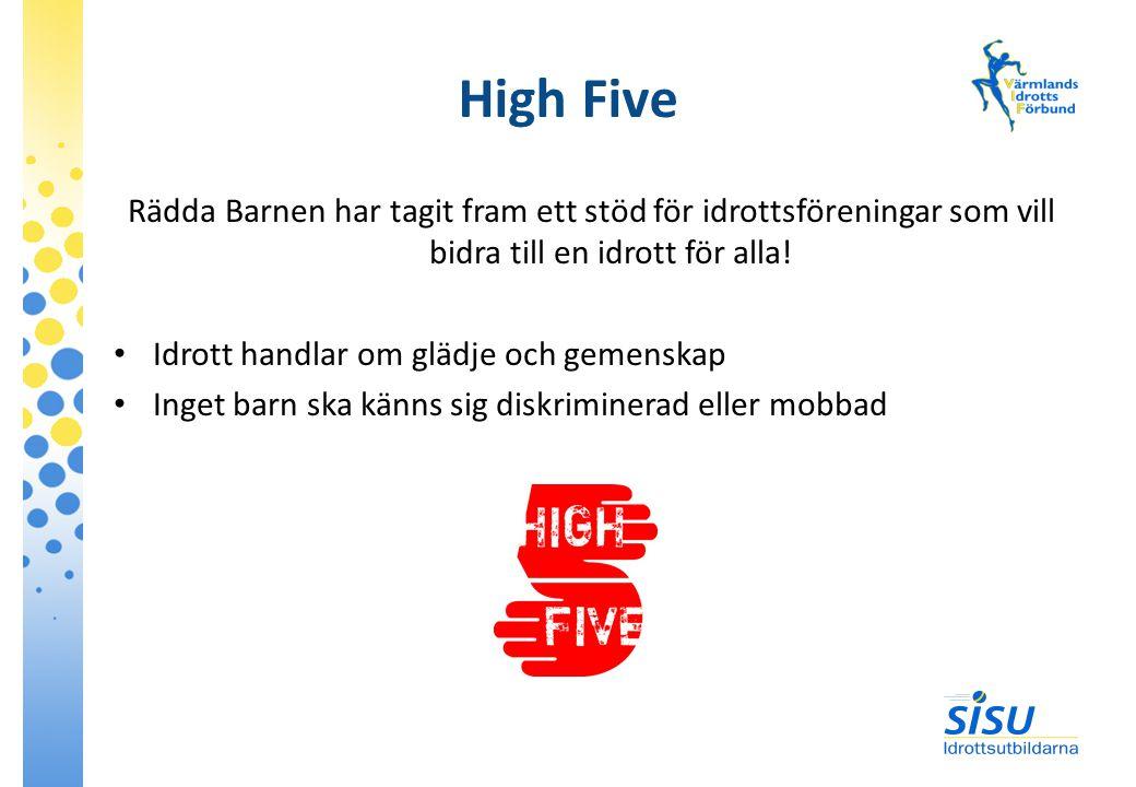 High Five Rädda Barnen har tagit fram ett stöd för idrottsföreningar som vill bidra till en idrott för alla!