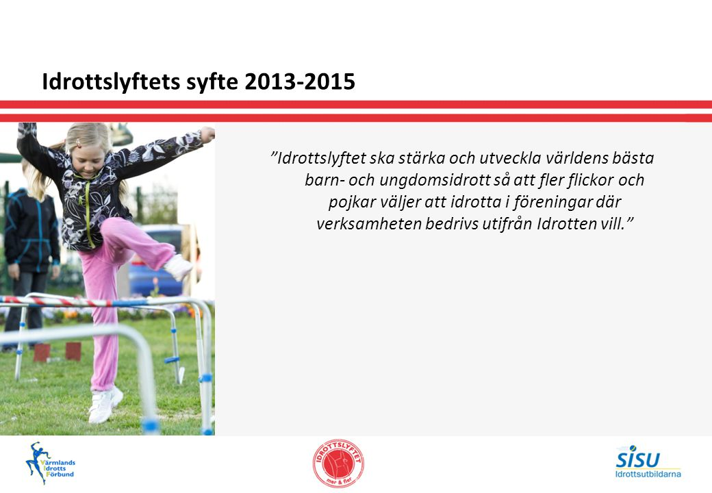 Idrottslyftets syfte 2013-2015