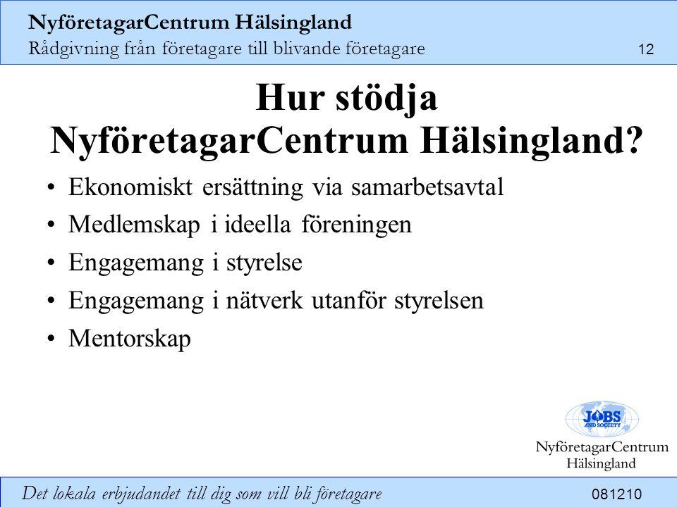 Hur stödja NyföretagarCentrum Hälsingland
