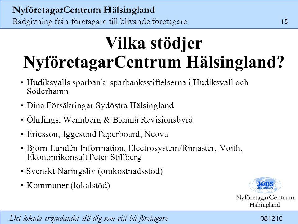 Vilka stödjer NyföretagarCentrum Hälsingland