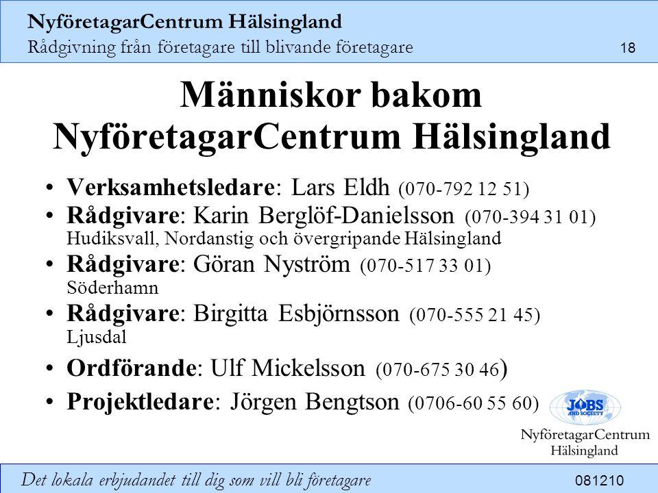 Människor bakom NyföretagarCentrum Hälsingland