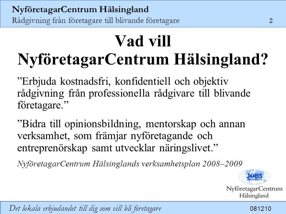 Vad vill NyföretagarCentrum Hälsingland