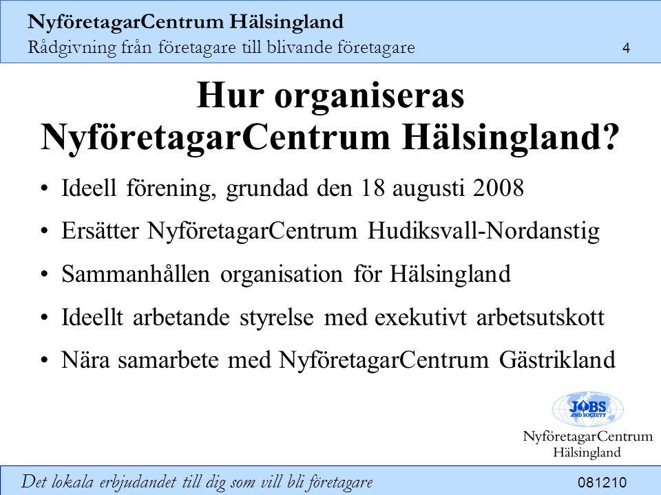 Hur organiseras NyföretagarCentrum Hälsingland