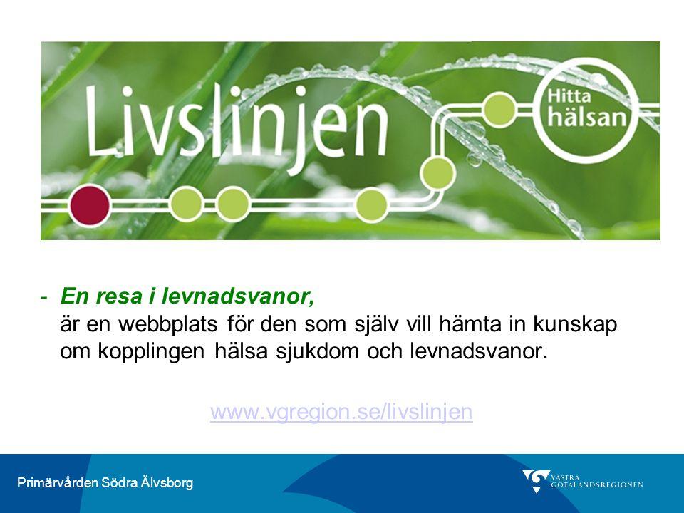 En resa i levnadsvanor, är en webbplats för den som själv vill hämta in kunskap om kopplingen hälsa sjukdom och levnadsvanor.