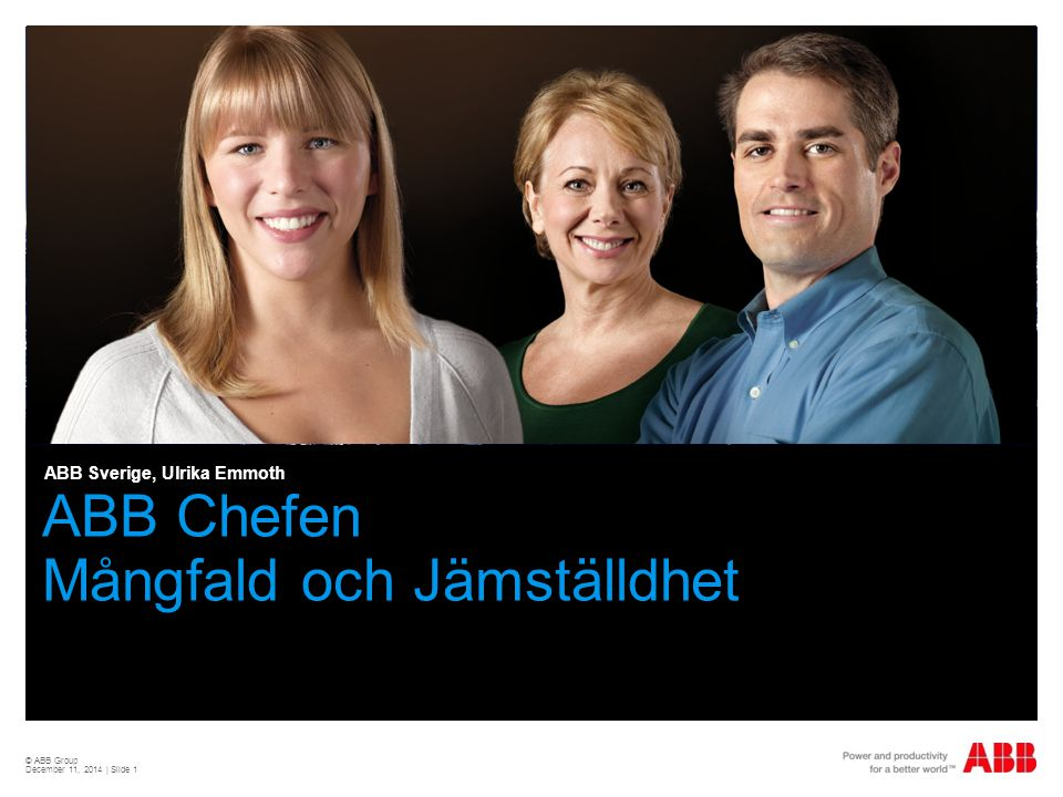 ABB Chefen Mångfald och Jämställdhet