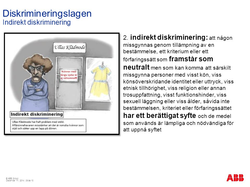 Diskrimineringslagen Indirekt diskriminering