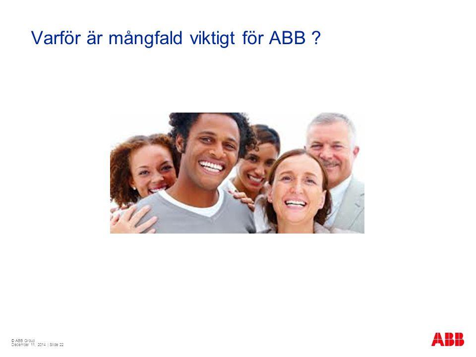 Varför är mångfald viktigt för ABB