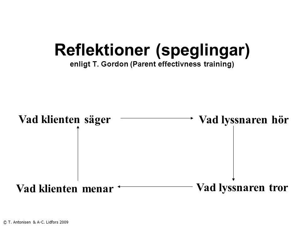 Reflektioner (speglingar) enligt T