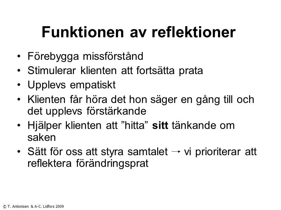 Funktionen av reflektioner