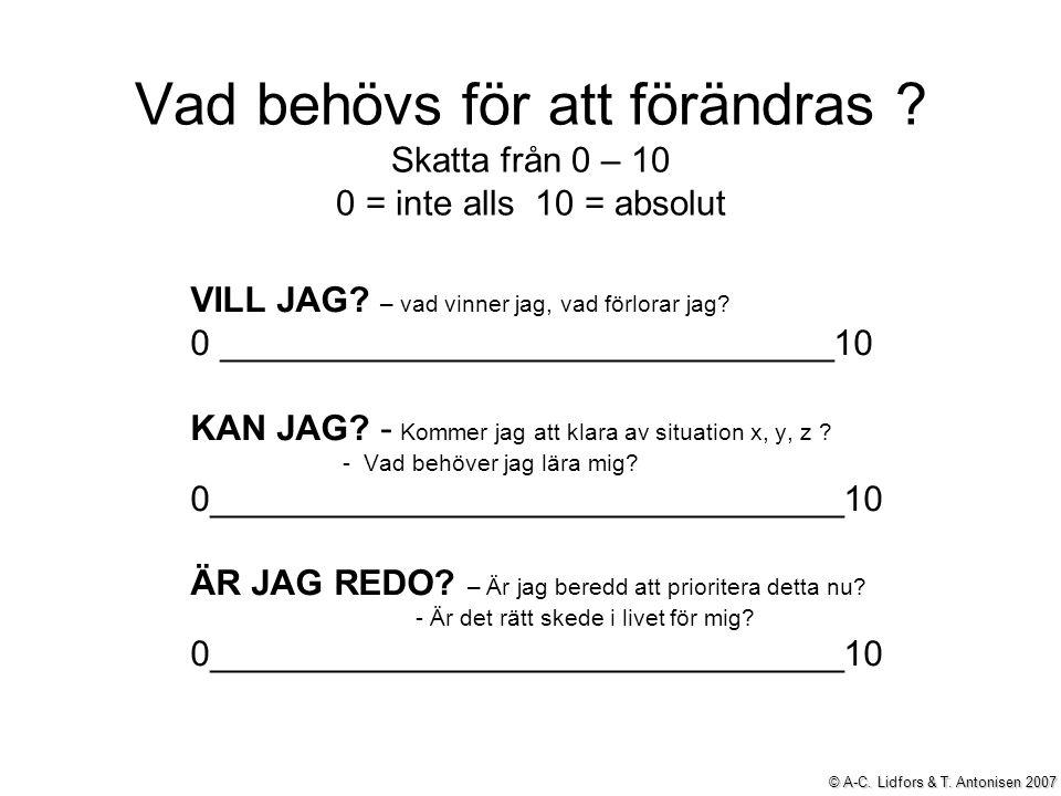 © A-C. Lidfors & T. Antonisen 2007