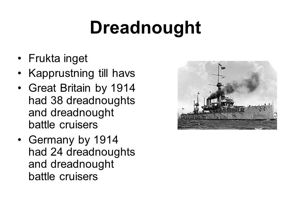 Dreadnought Frukta inget Kapprustning till havs