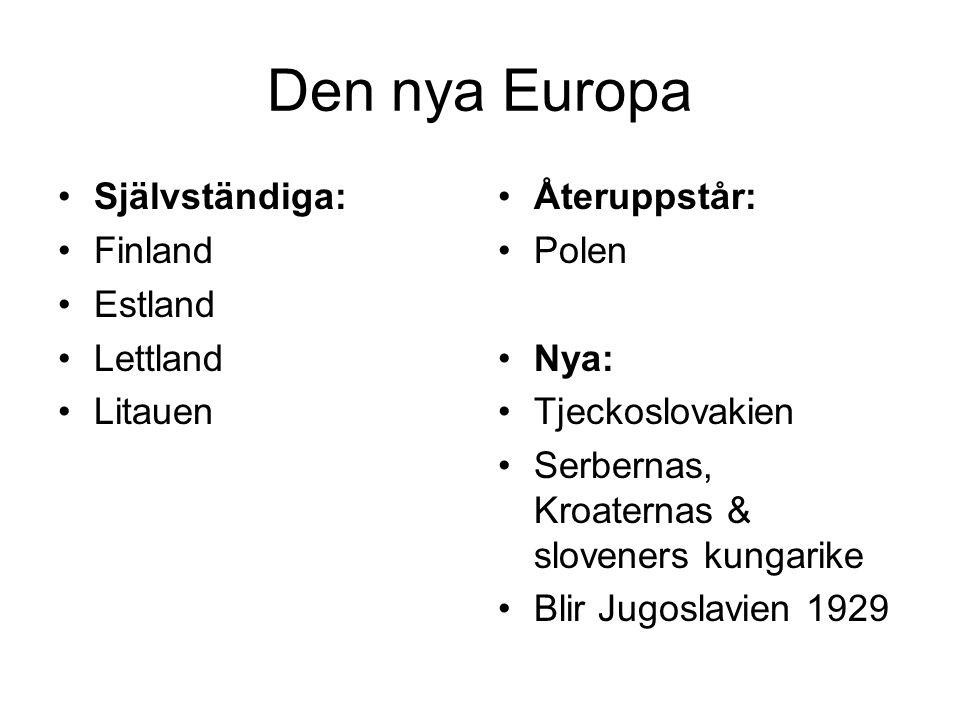 Den nya Europa Självständiga: Finland Estland Lettland Litauen