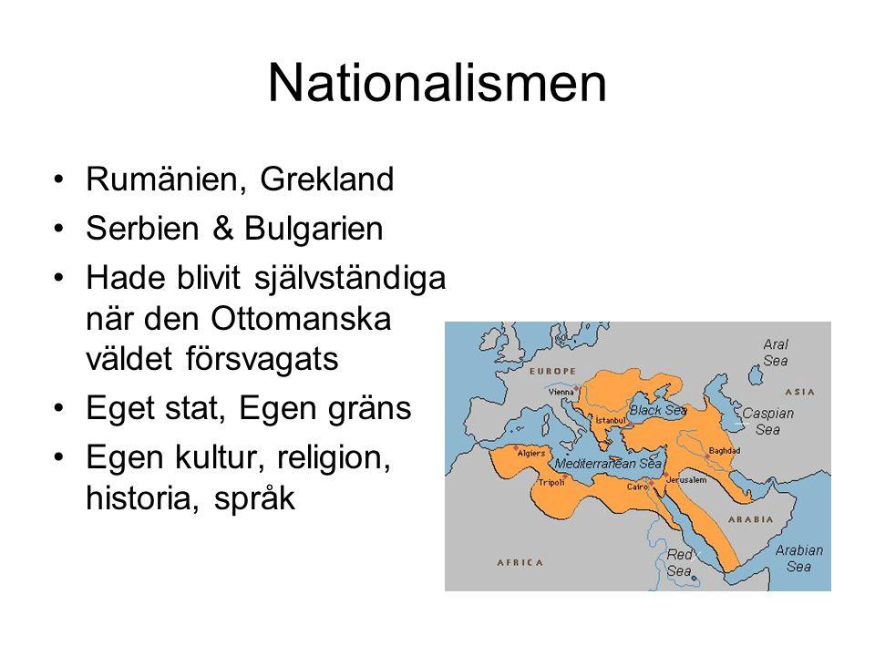 Nationalismen Rumänien, Grekland Serbien & Bulgarien