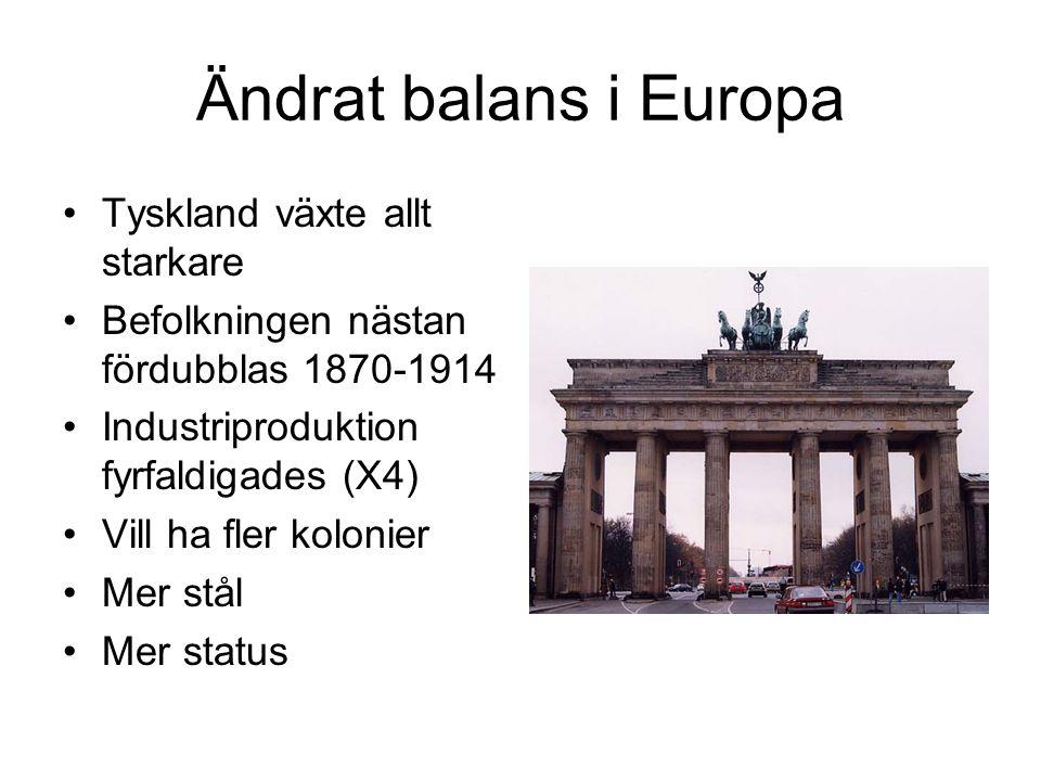 Ändrat balans i Europa Tyskland växte allt starkare