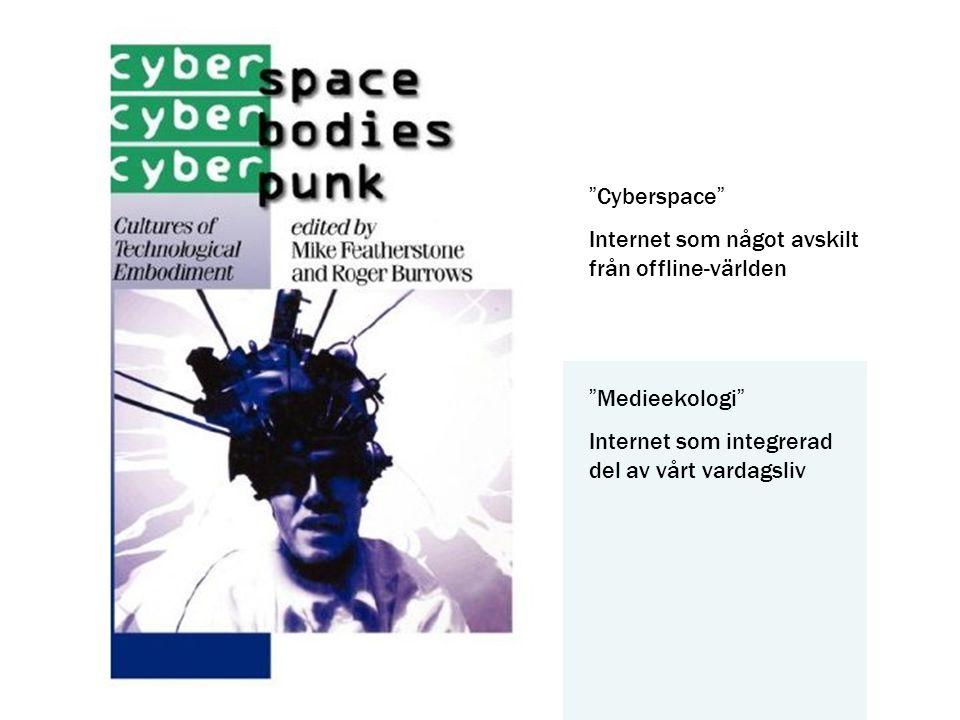 Cyberspace Internet som något avskilt från offline-världen.