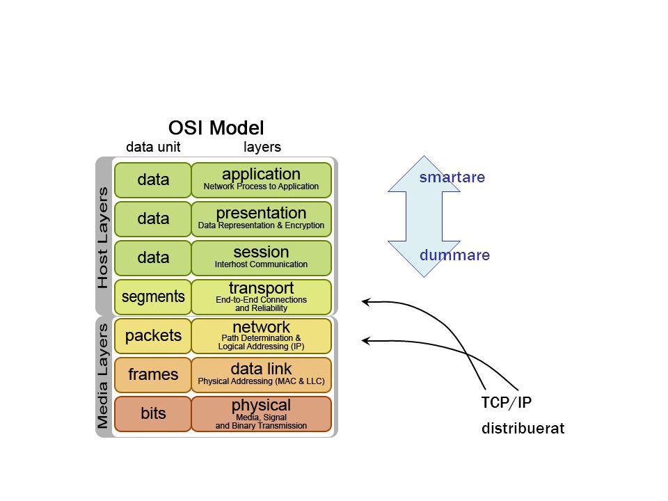 smartare dummare TCP/IP distribuerat