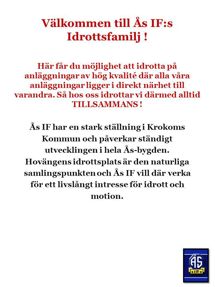 Välkommen till Ås IF:s Idrottsfamilj !