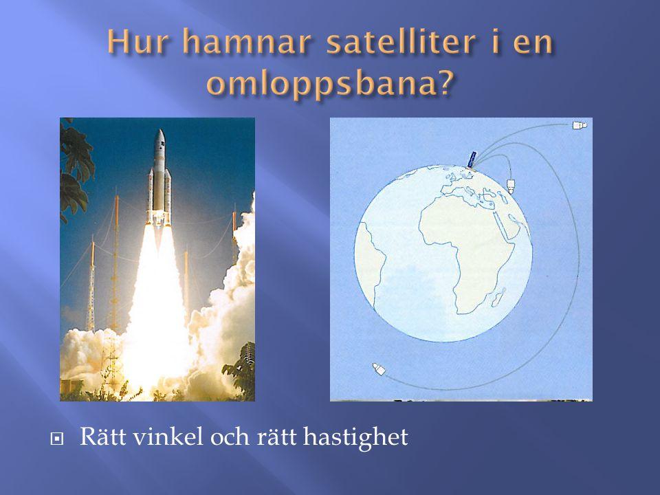 Hur hamnar satelliter i en omloppsbana