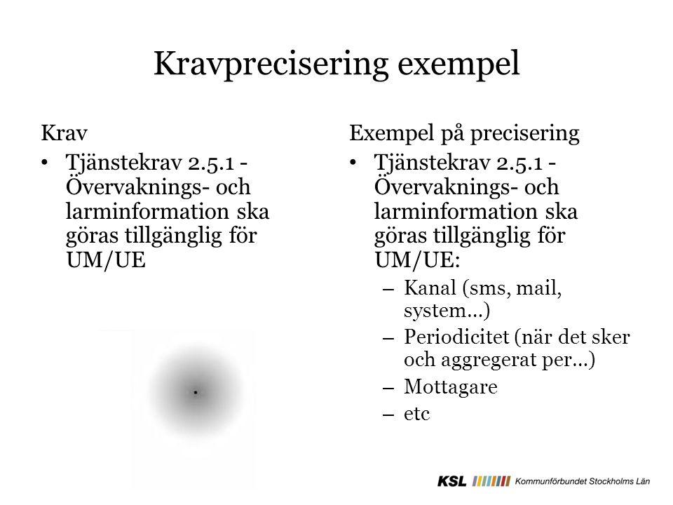 Kravprecisering exempel