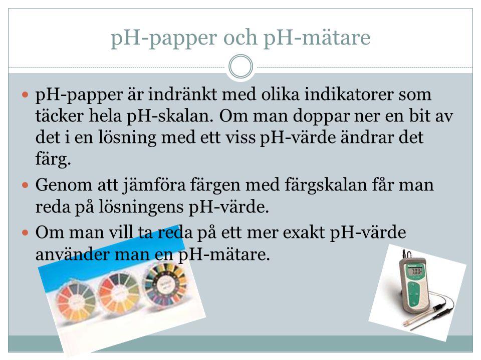 pH-papper och pH-mätare