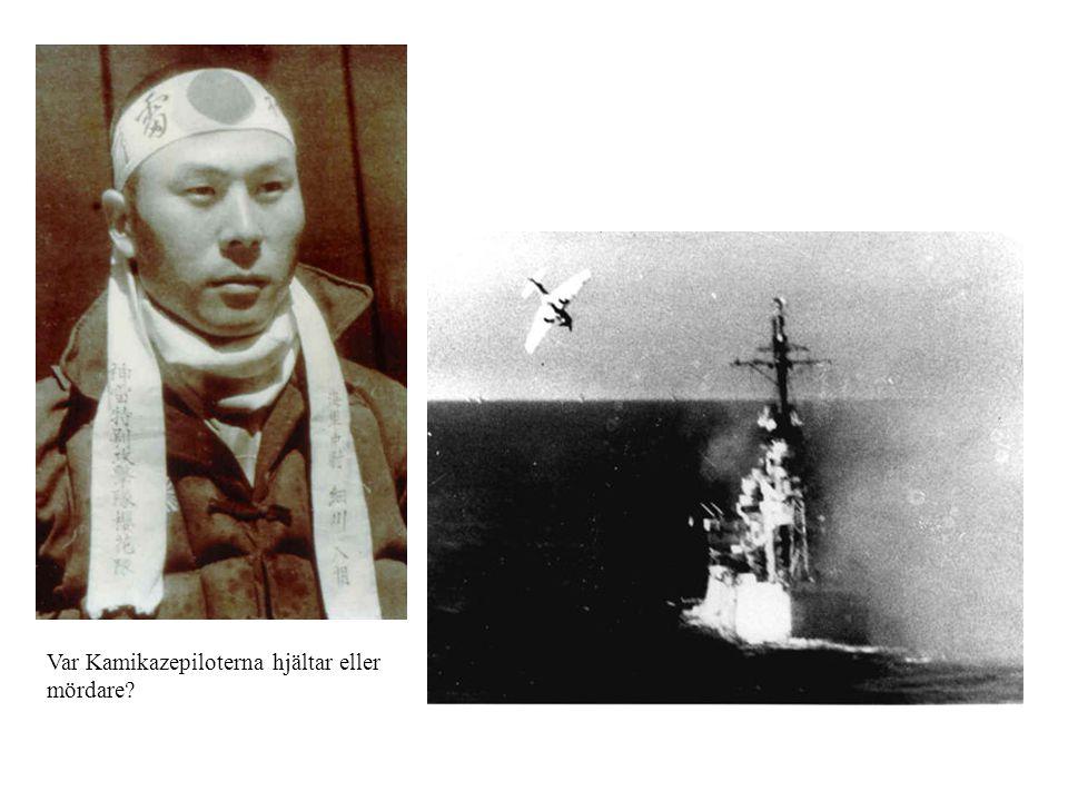 Var Kamikazepiloterna hjältar eller mördare