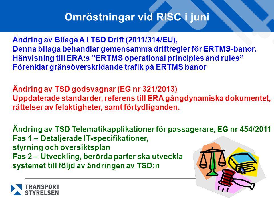 Omröstningar vid RISC i juni