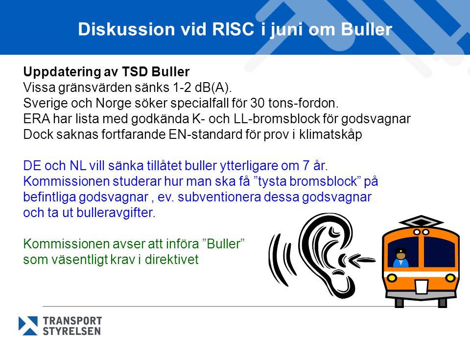 Diskussion vid RISC i juni om Buller