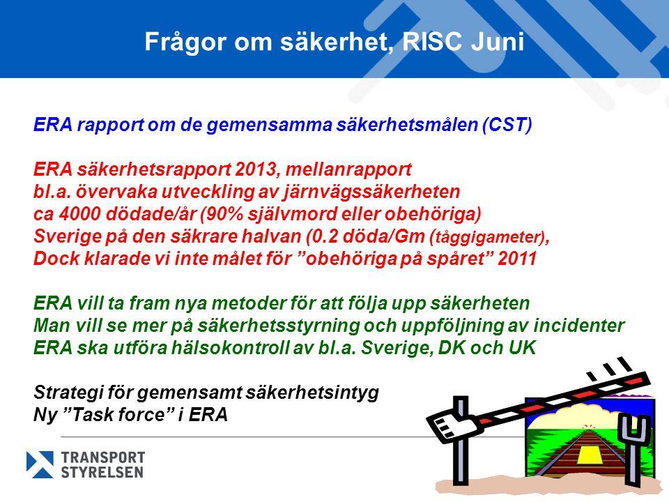 Frågor om säkerhet, RISC Juni